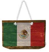 Mexico National Flag On Wood Weekender Tote Bag
