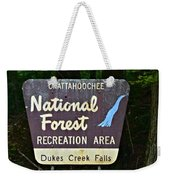 National Forest Recreation Area Weekender Tote Bag