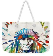 Native American Art - Chief - By Sharon Cummings Weekender Tote Bag