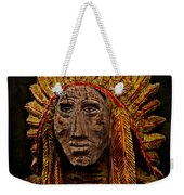 Native American In Wood 1886 Weekender Tote Bag
