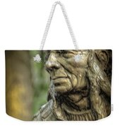 Native American Statue At Niagara Falls State Park Weekender Tote Bag