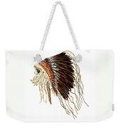 Native American War Bonnet - Plains Indians Weekender Tote Bag