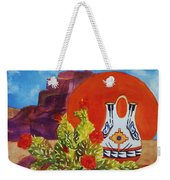 Native American Wedding Vase And Cactus Weekender Tote Bag
