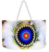 Native American White Fur Headdress Weekender Tote Bag
