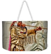 Native American With Blowgun Weekender Tote Bag