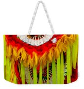 Native American Yellow Feathers Ceremonial Piece Weekender Tote Bag