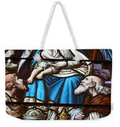 Nativity Stained Glass Weekender Tote Bag