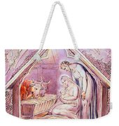 Nativity With Two Angels Weekender Tote Bag