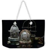 Natuical - Vintage Ship Deck Lights Weekender Tote Bag