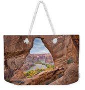 Natural Arch And River Valley Canyon De Weekender Tote Bag
