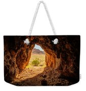Natural Cave Above The Valley Of Fire Weekender Tote Bag