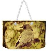 Natural Crow Weekender Tote Bag