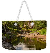 Natural Pool - The Beautiful Scene Of The Seven Sacred Pools Of Maui. Weekender Tote Bag
