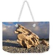 Naturally Sculpted Waterworn Wood On Pebble Beach Weekender Tote Bag