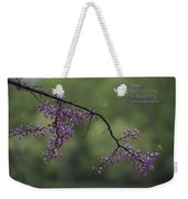 Nature Does Not Hurry Blossoms In Purple Weekender Tote Bag