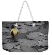 Nature Does Not Hurry Waterlily Weekender Tote Bag