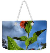 Nature Does Not Hurry Zinnia Standing Tall Weekender Tote Bag