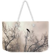 Nature Raven Crow Trees - Surreal Fantasy Gothic Nature Raven Crow In Trees Sepia Print Decor Weekender Tote Bag