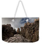 A Stunning Rock Wall Becomes A Wild Nature Sculpture In North Coast Of Minorca Europe Weekender Tote Bag