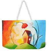 Nature Spills Colour On My House Weekender Tote Bag by Nirdesha Munasinghe
