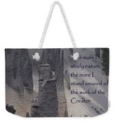 Nature Study Weekender Tote Bag by Sharon Elliott