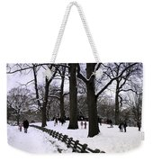 Nature's Canvas On A Wintry Day Weekender Tote Bag