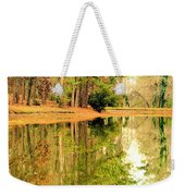 Nature's Green And Gold Weekender Tote Bag