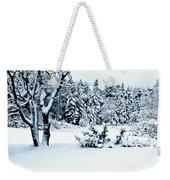 Natures Handywork - Snow Storm - Snow - Trees 2 Weekender Tote Bag