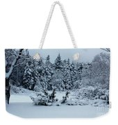 Natures Handywork - Snowstorm - Snow - Trees Weekender Tote Bag
