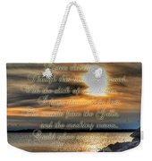 Natures Melody With Text Weekender Tote Bag