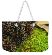 Nature's Moss And Sweetgum Pods Weekender Tote Bag
