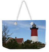 Nauset Beach Light Weekender Tote Bag