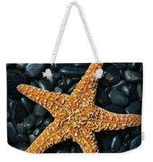 Nautical - Starfish On Black Rocks Weekender Tote Bag
