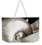 Nautilus Shell Sepia Weekender Tote Bag