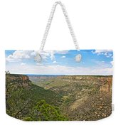Navajo Canyon Overlook On Chapin Mesa Top Loop Road In Mesa Verde National Park-colorado Weekender Tote Bag