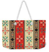 Navajo Style Pattern Weekender Tote Bag