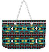 Navajo Teal Pattern Weekender Tote Bag