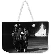 Navajo's Dance  Night Fire Rodeo Grounds Inter-tribal Indian Rodeo Gallup New Mexico 1969 Weekender Tote Bag