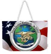 Naval Special Warfare Group Three - N S W G-3 - Over U. S. Flag Weekender Tote Bag