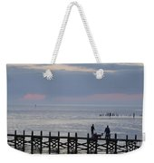 Navarre Beach Sunset Pier 10 Weekender Tote Bag