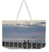 Navarre Beach Sunset Pier 11 Weekender Tote Bag