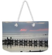 Navarre Beach Sunset Pier 17 Weekender Tote Bag