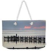 Navarre Beach Sunset Pier 21 Weekender Tote Bag