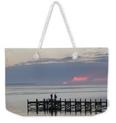 Navarre Beach Sunset Pier 22 Weekender Tote Bag