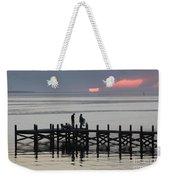 Navarre Beach Sunset Pier 25 Weekender Tote Bag
