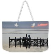 Navarre Beach Sunset Pier 26 Weekender Tote Bag
