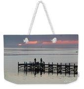 Navarre Beach Sunset Pier 28 Weekender Tote Bag
