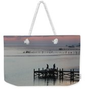 Navarre Beach Sunset Pier 30 Weekender Tote Bag