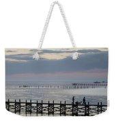 Navarre Beach Sunset Pier 8 Weekender Tote Bag