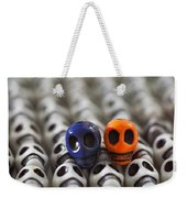 Navy Blue And Orange Weekender Tote Bag